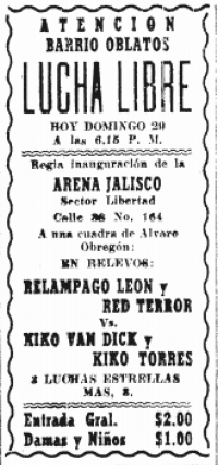 source: http://www.thecubsfan.com/cmll/images/cards/19560129arenajalisco.PNG