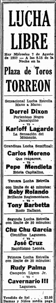 source: http://www.luchadb.com/images/cards/1950Laguna/19570807plaza.png