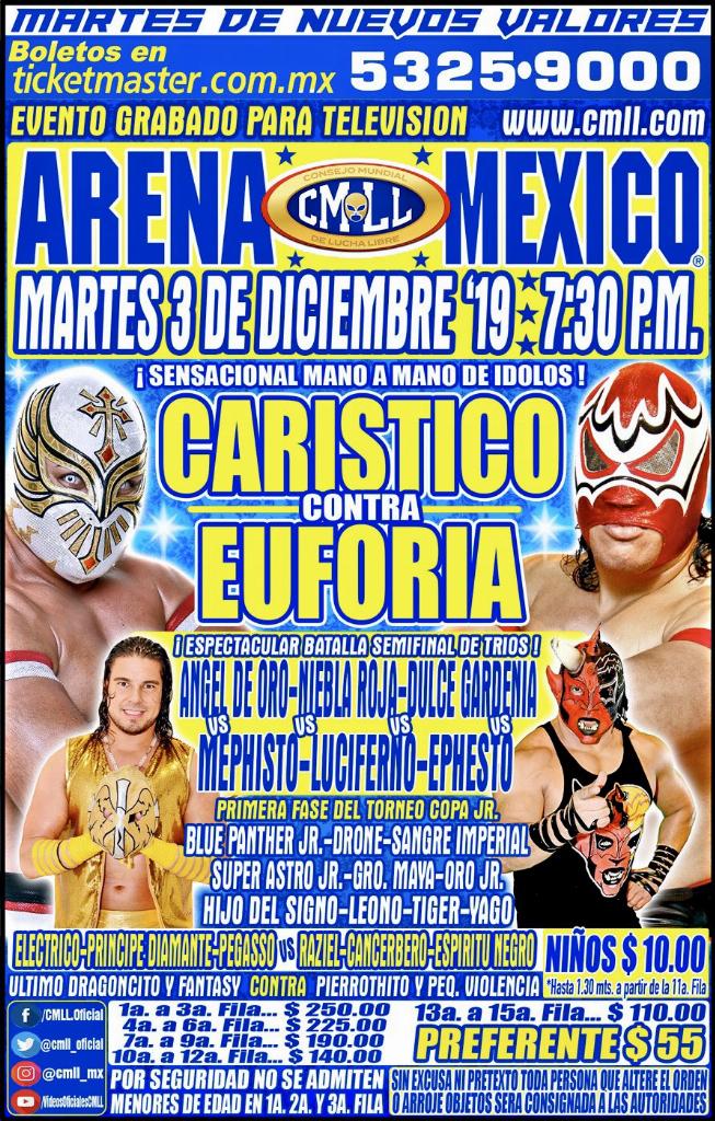 CMLL: Guerrero Maya Jr. es el primer finalista de la Copa Jr. 2019 2