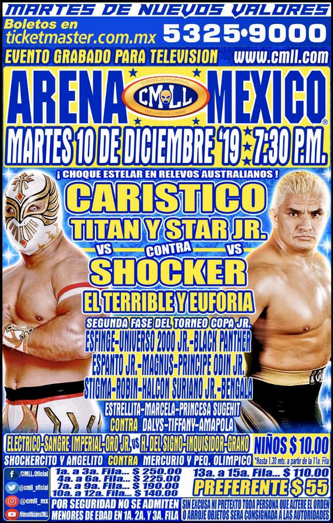 Una mirada semanal al CMLL (del 28 nov al 4 dic de 2019) 12